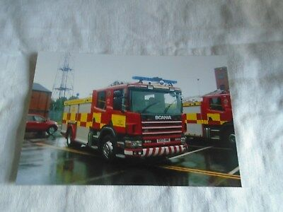 6x4 Photo of Staffordshire Scania Fire Appliance DX53 HME