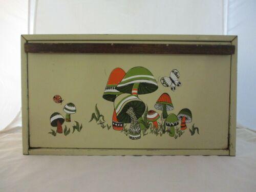 Vintage Metal Breadbox Mushroom