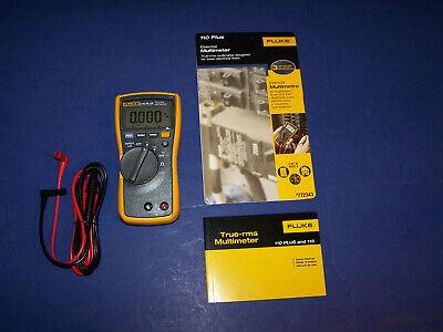 New Fluke 110 Plus True Rms Digital Meter 600-volt Multimeter Test Meter Leads