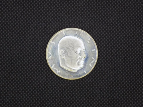 Italian Fascist Mussolini Fantasy Token - Silvered Copper Proof