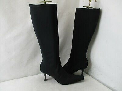 Donald J Pliner Black Stretch Knee High Heel Fashion Boots Womens Size 6.5 M Heel Knee High Stretch Boots