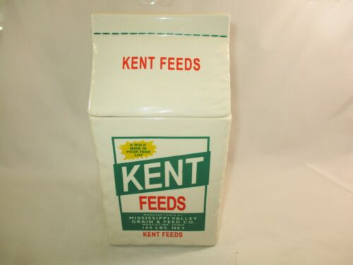 1998 Kent Feeds Ceramic Advertising Cookie Jar Limited Edition