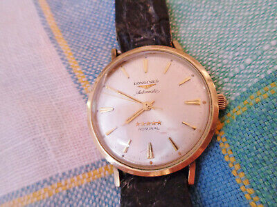 VINTAGE LONGINES AUTOMATIC 5 STARS ADMIRAL10K GOLD FILLED WRISTWATCH