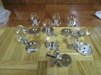 Clear & Silver Tone Cabinet Door Knobs /Drawer Pulls [Lot of (Silver Tone Drawer Pulls)