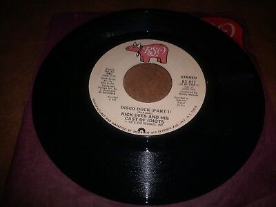 Rick Dees and his Cast of Idiots 'Disco Duck' 45 RPM Record 7