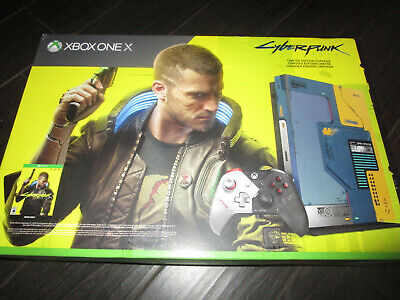 Cyberpunk 2077 1TB XBOX One X Limited Edition Console Bundle Controller In Hand