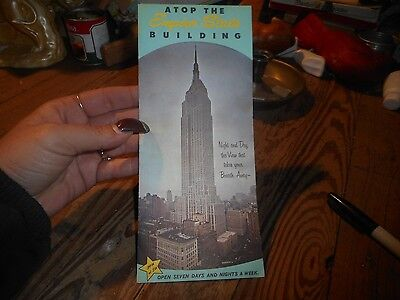 Vintage Brochure A Top The Empire State Building