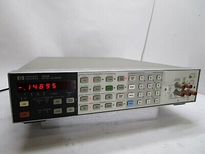Hp 3456a Digital Voltmeter Hewlett Packard Sn 2825a20526 T12-c12