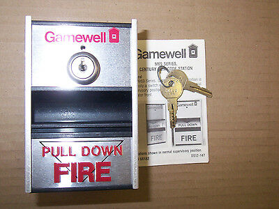 New Gamewell M69-5 M69 Series Fire Alarm Pull Station With Keys