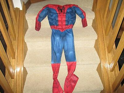 Rubies Costume Marvel Ultimate Spiderman Muscle Outfit Child Dress Up Size small - Spiderman Dress Up Outfit