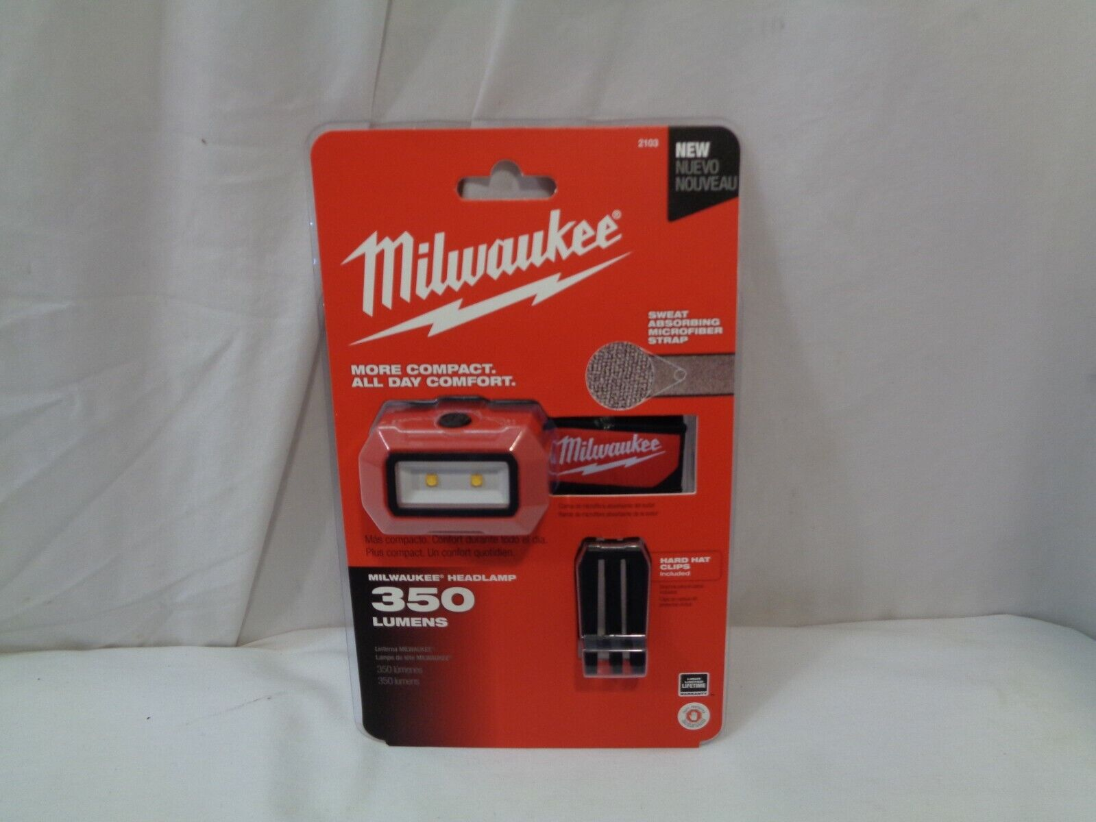 MILWAUKEE 2103 LED HEADLAMP WATER DUST RESISTANT BRAND NEW  - $25.00