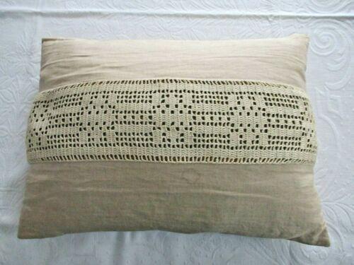 Vintage Antique Linen Pillow