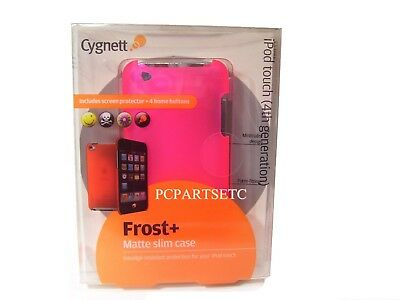 iPod Touch 4th Generation Pink Slim Case And Screen Protector For 8GB 32GB 64GB Ipod Touch 4. Generation Pink