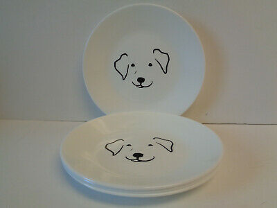 4 Corelle My Best Friend Dog Max Golden Retriever Dessert Plates 6-3/4