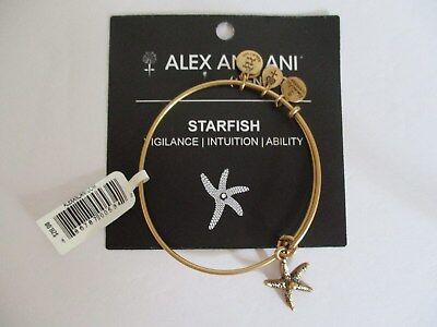 (Alex and Ani Star Fish Charm Bangle -- Gold - NWT/Card)