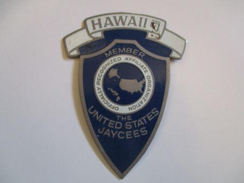 vintage 1959 US Jaycees Hawaii State Award Badge Pin RARE