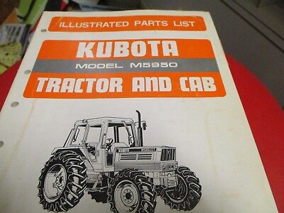 Kubota M5950 Tractor Parts List Manual
