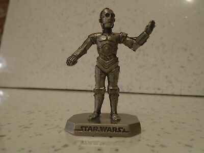 Rawcliffe Pewter Star Wars C3-PO Statue Figure Empire Solo not Selangor
