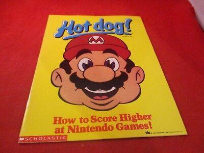 Hot Dog Magazine Number 58 Mario Nintendo NES Cover 1989 Scholastic