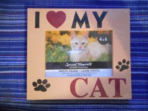 """Special Moments Memories Collection I Love My Cat 4"""" x 6"""" Plastic Photo Frame"""