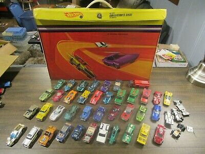 Vintage Hot Wheels Redline Junkyard Lot with Carrying Case - 38 Cars
