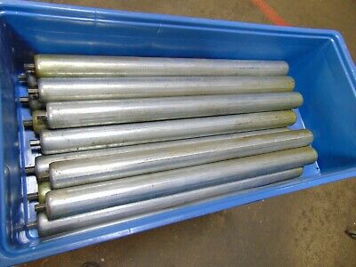 Lot Of 12 Replacement Gravity Roller Conveyors Rollers 25
