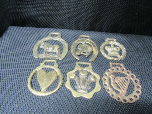 Vintage Brass Horse Bridle Harness Medallions Lot of 6