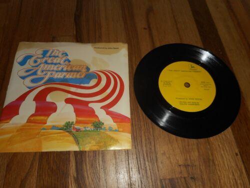 Vintage 1975 JD JOHN DEERE FARM TRACTOR The Great American Farmer Record 45 LP