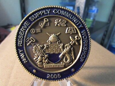United States Navy Reserve Supply Workshop Salt Lake City Challenge Coin #460