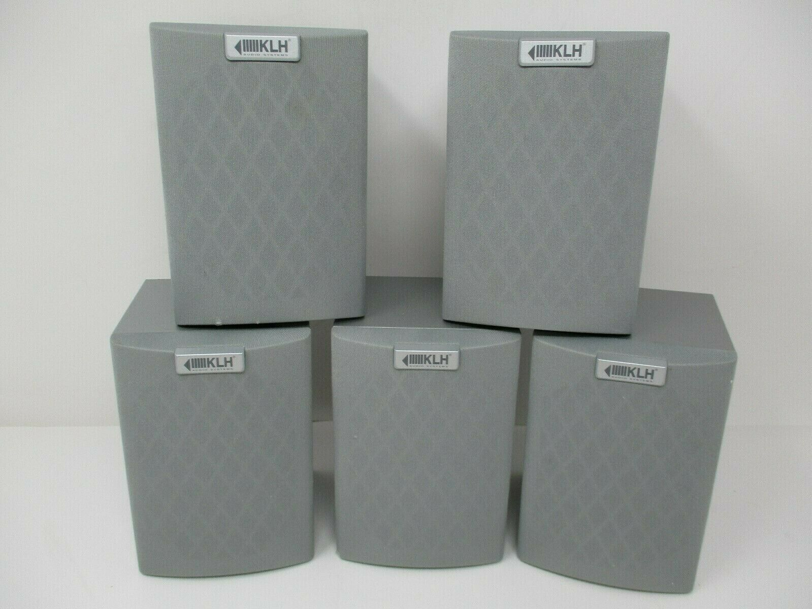 KLH Gray Surround Sound Compact Bookshelf Speakers Set Of 5