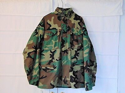 US Army Golden Woodland Camouflage Pattern Cold Weather Field Coat Medium Long