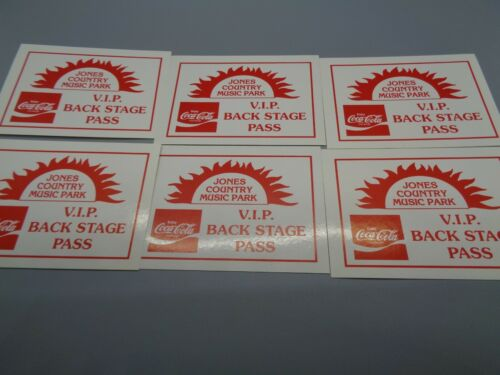 6 Vintage GEORGE JONES   Jones Country Backstage VIP Pass RARE! 6 for 1 Price!