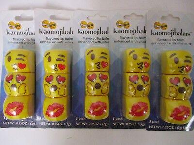 5 KAOMOJIBALMS LIP BALM PACKS CHERRY POM & FRENCH VANILLA EXP: 8/20 JM 1240 - French Vanilla Lip Balm