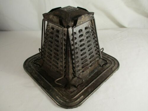 Vintage Antique Primitive Bread Toaster 4 Slice Pyramid Open Flame Fire Camp