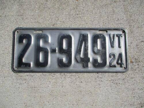 Vermont 1924 license plate  # 26 - 949