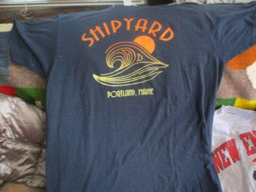 NWOT SHIPYARD BREWING CO. Portland Maine Logo T Shirt Large 50% 50%