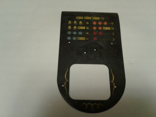 VINTAGE  ORIG FRONT PAYOUT FRONT FACE PLATE for MILLS DIAMOND SLOT MACHINE