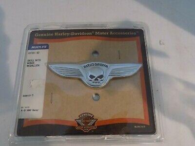 Genuine Harley Davidson Motor Accessories Skull with Wings Medallion Harley Davidson Skull Accessories