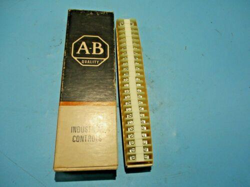NEW BOX OF 25 ALLEN-BRADLEY 1492-F1 WHITE TERMINAL BLOCK