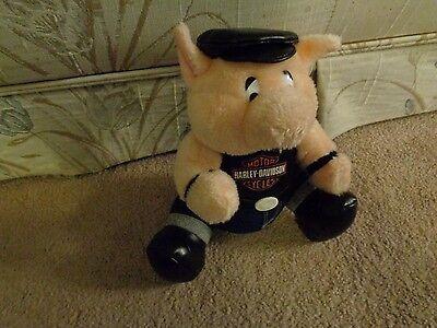 HARLEY DAVIDSON HOG PIG PLUSH DOLL FIGURE BIKER MOTORCYCLE BIKE PLAY BY PLAY