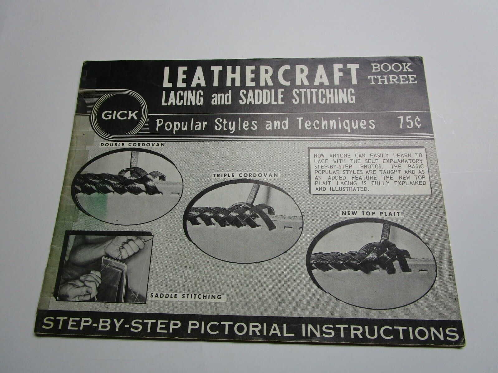 Vintage Leather Gick Lacing And Saddle Stitching Book Three. - $14.99