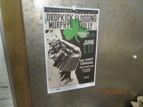 DROPKICK MURPHYS/FLOGGING MOLLY Fox Street Compound Summer Tour 2018 SHOW POSTER