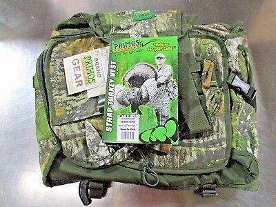 PRIMOS HUNTING 6564 Strap Turkey Vest Medium/Large Mossy Oak NEW