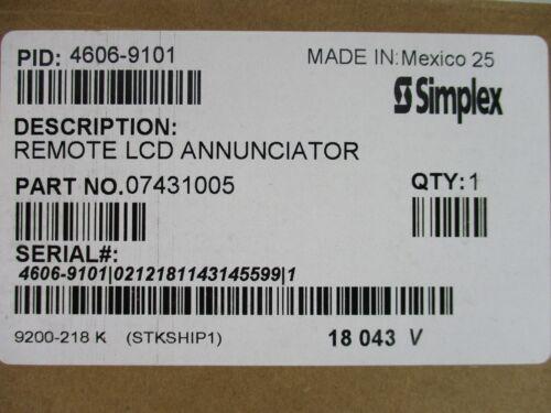 (NEW) SIMPLEX 4606-9101 - REMOTE LCD ANNUNCIATOR WITH BEIGE TRIM