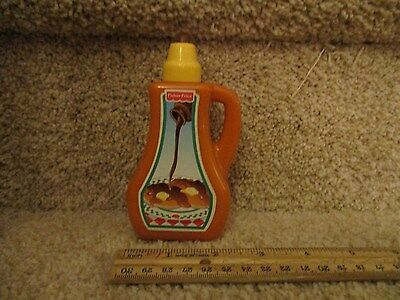 Fisher Price Fun with Food Maple syrup breakfast pancake waffle Pour spill gooey