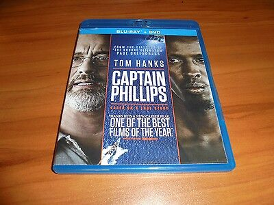 Captain Phillips (Blu-ray/DVD, 2014, 2-Disc) Tom Hanks Used