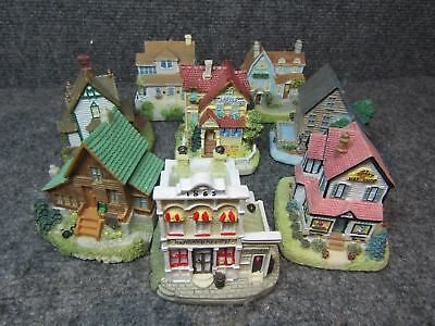 """Liberty Falls 1996 to 2002 Miniature 3"""" Village Collection Lot of 8"""