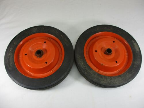 """Solid Rubber Cart Wagon Dolly Wheels Pedal Car w/ Metal Rims Scotts 10"""" x 1.5"""""""