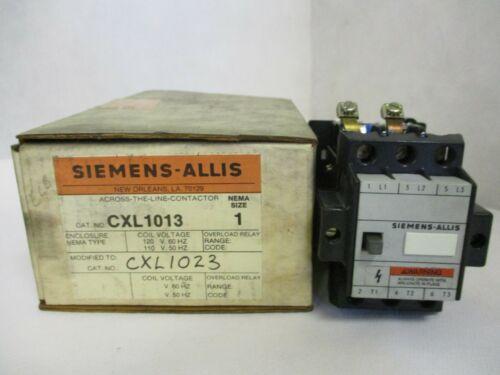 NEW SIEMENS-ALLIS CXL1023  ACROSS-THE LINE CONTACTOR SIZE 1 220/240V COIL