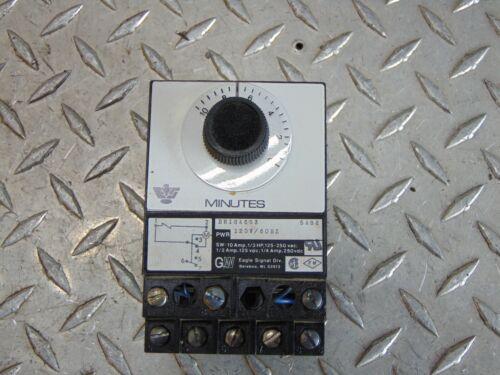 EAGLE SIGNAL BR18A603 ELECTRIC RESET TIMER 120V 10 MINUTE
